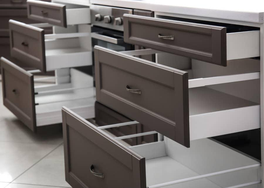 Deep drawers.