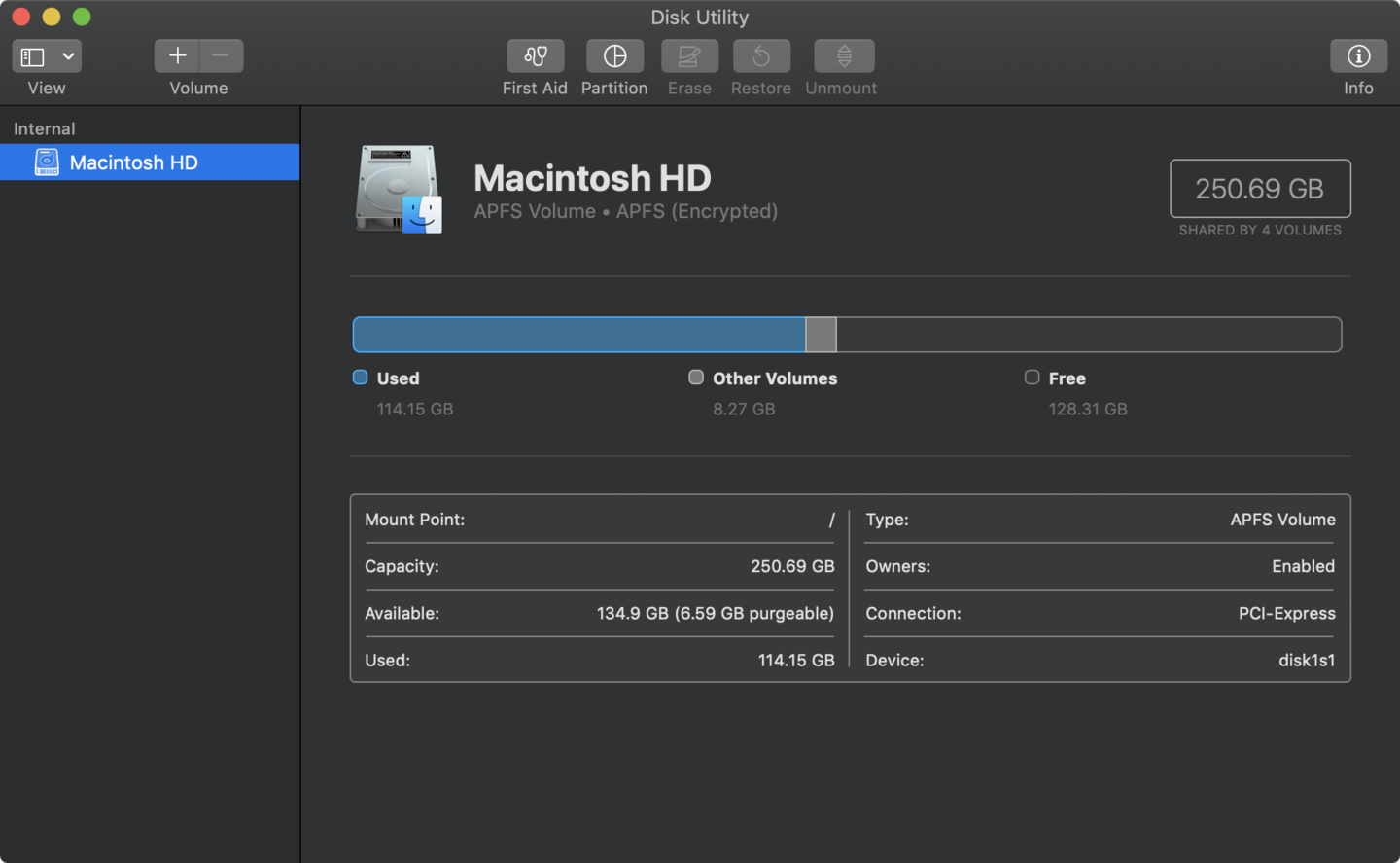 Format hard drive on macOS
