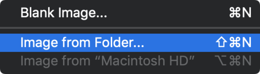 Create a new Disk Image from this folder