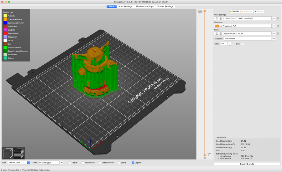 Prusa Slicer screenshot