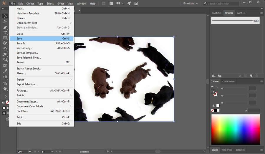 Save Image Illustrator
