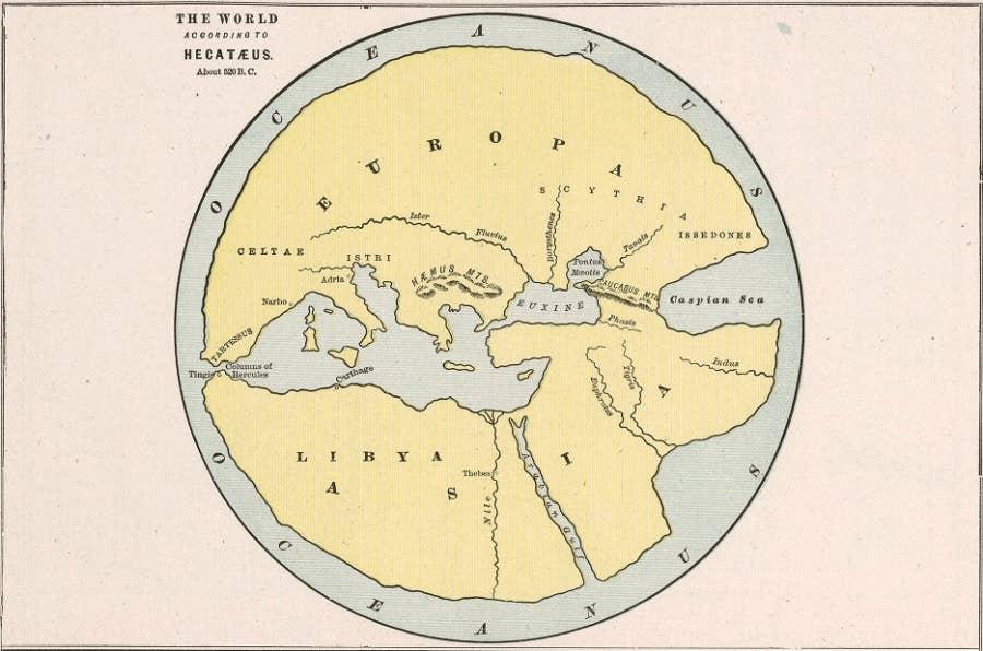 ancient world map 5th century