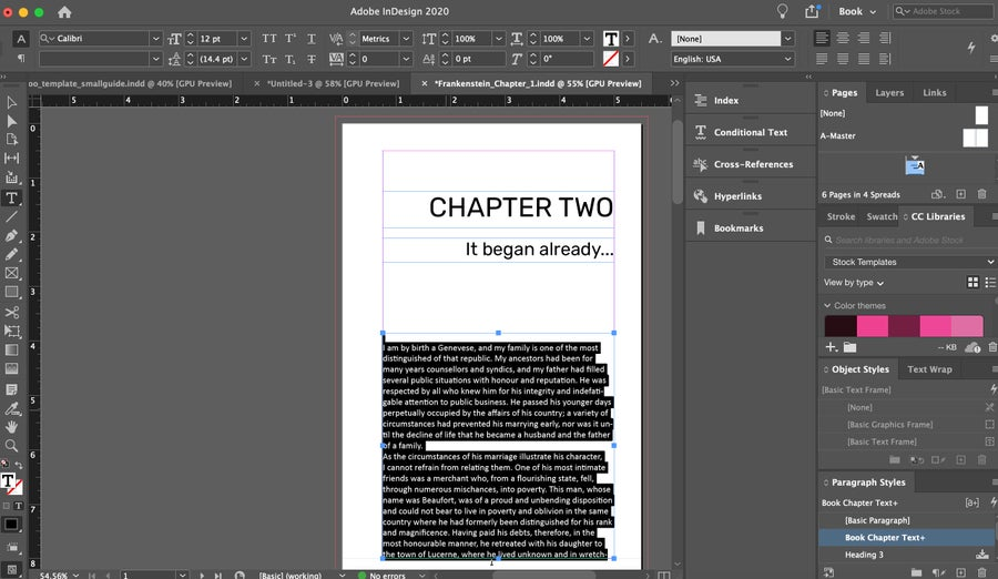 Chapter Two InDesign