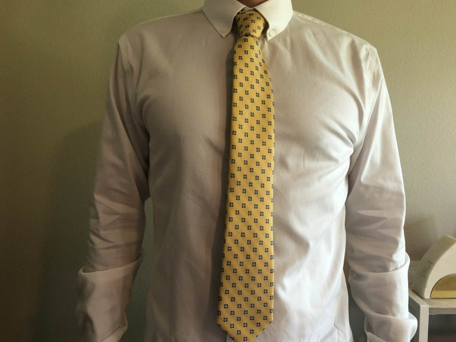 Man Wearing White Shirt and Tie