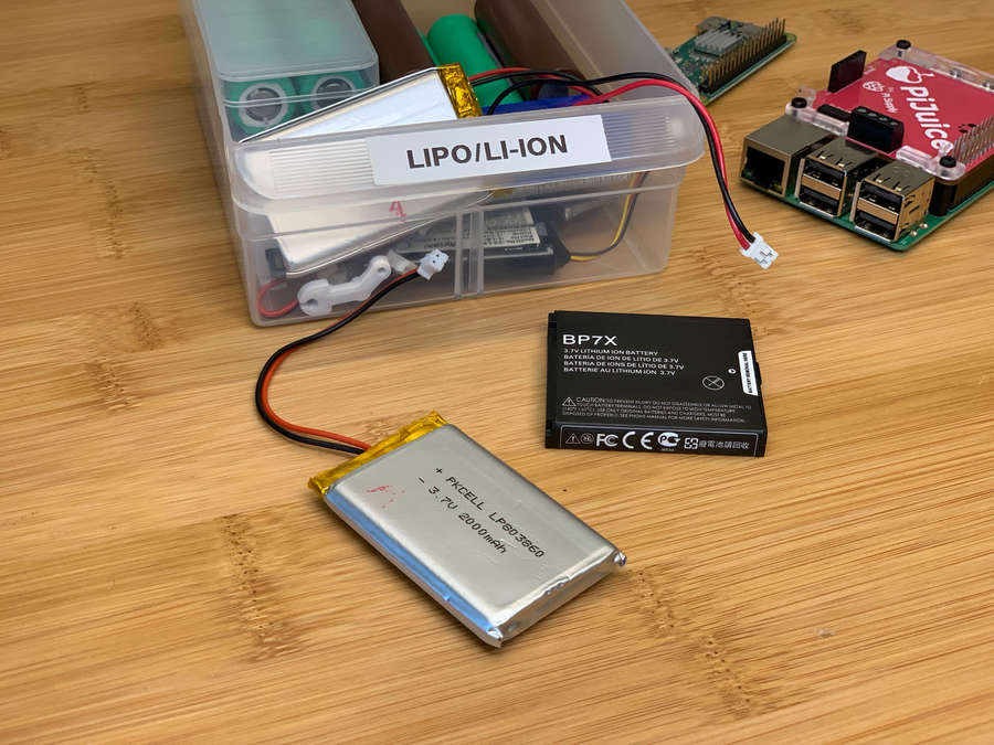 Various LiPo/Li-Ion batteries