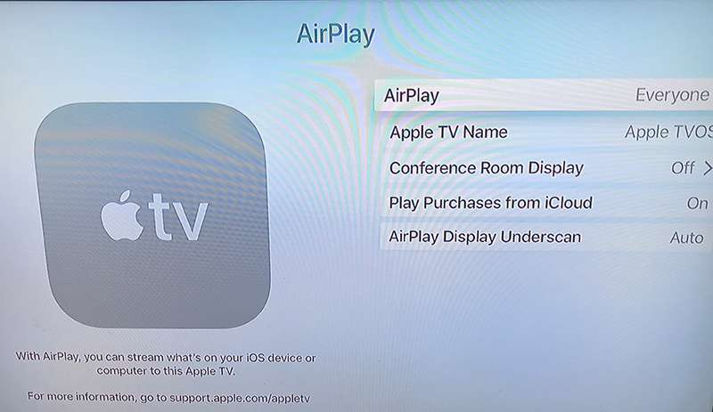 Click on Airplay for more options