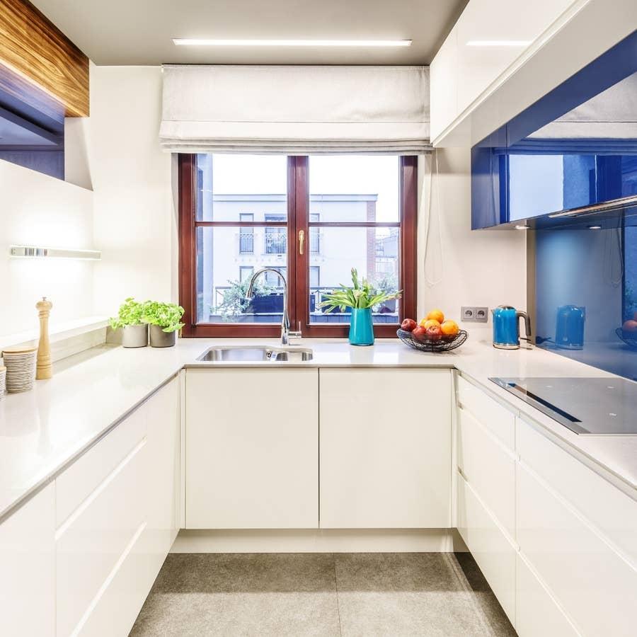 A small kitchen.