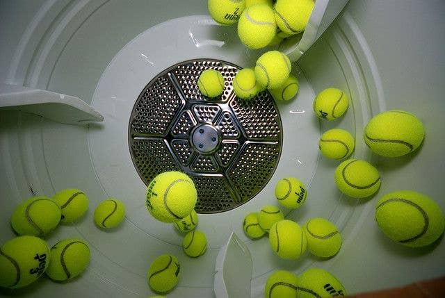 tennis balls in dryer