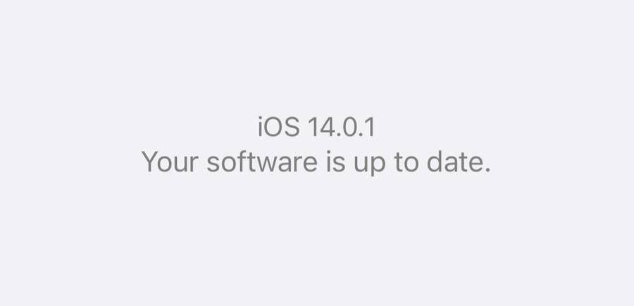 iOS 14 installed