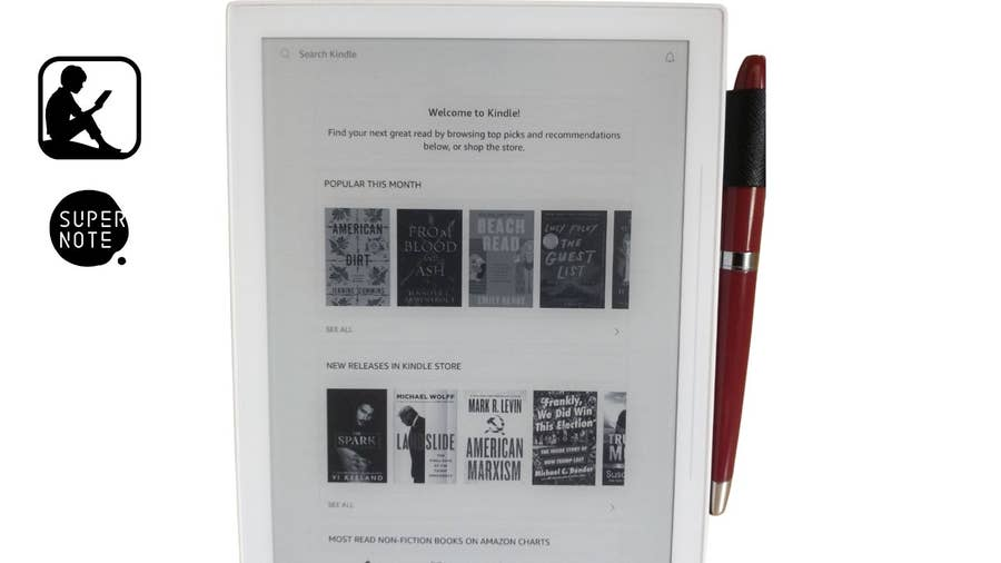 Signing in to Amazon Kindle on your Supernote