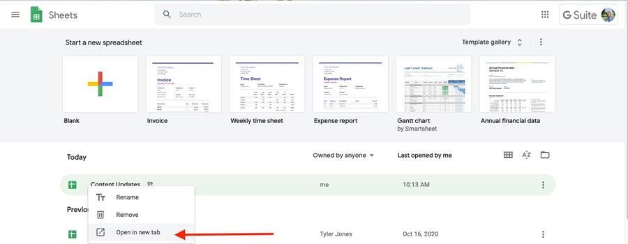 Open Spreadsheet in Google Sheets