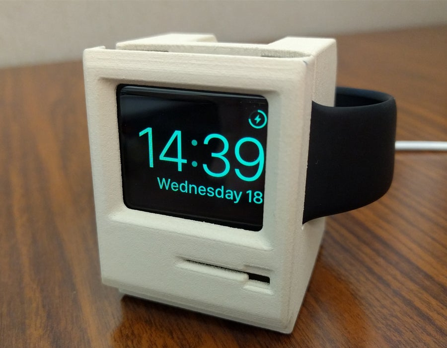 3D printed apple watch charging dock classic mac