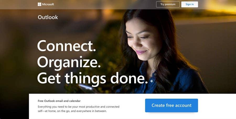 Live.com homepage