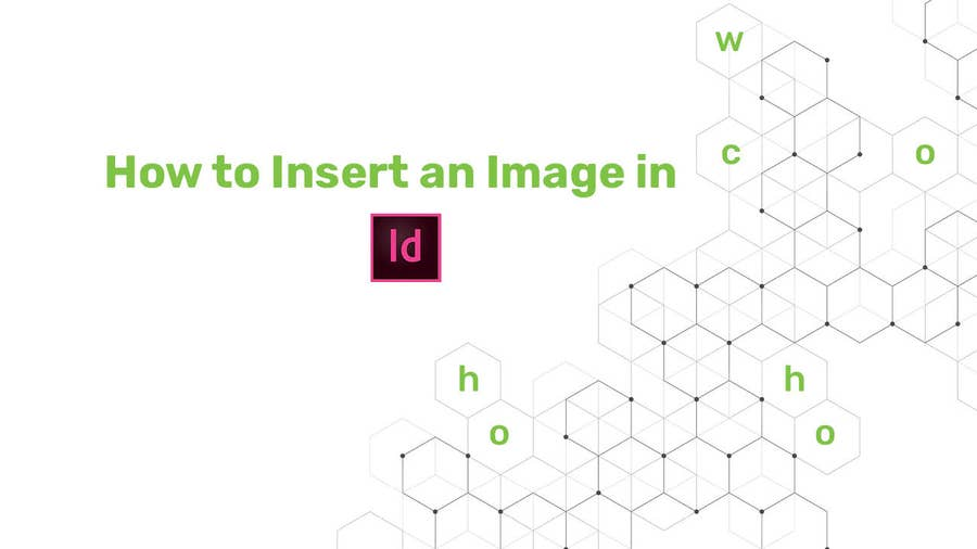 How to insert an image in indesign