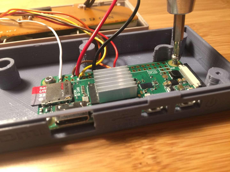Mounting the Pi inside the Gamepad Zero