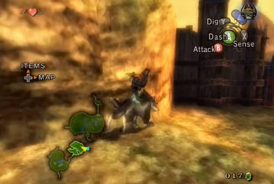 Legend of Zelda Twighlight Princess gameplay