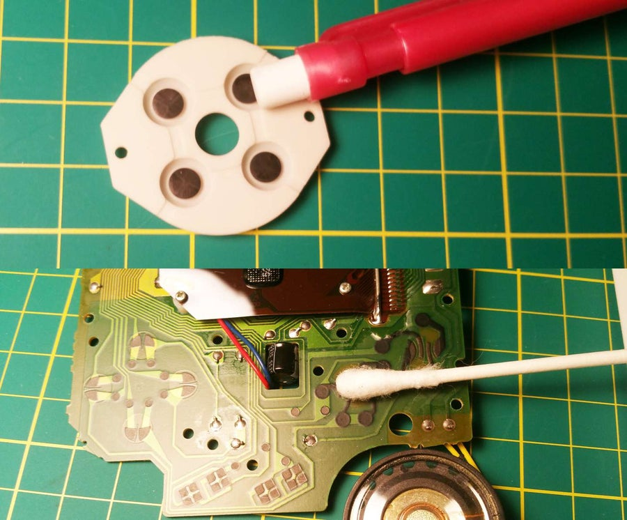 Clean the button components