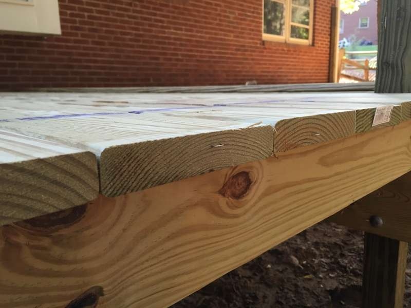 How to lay 5/4 decking