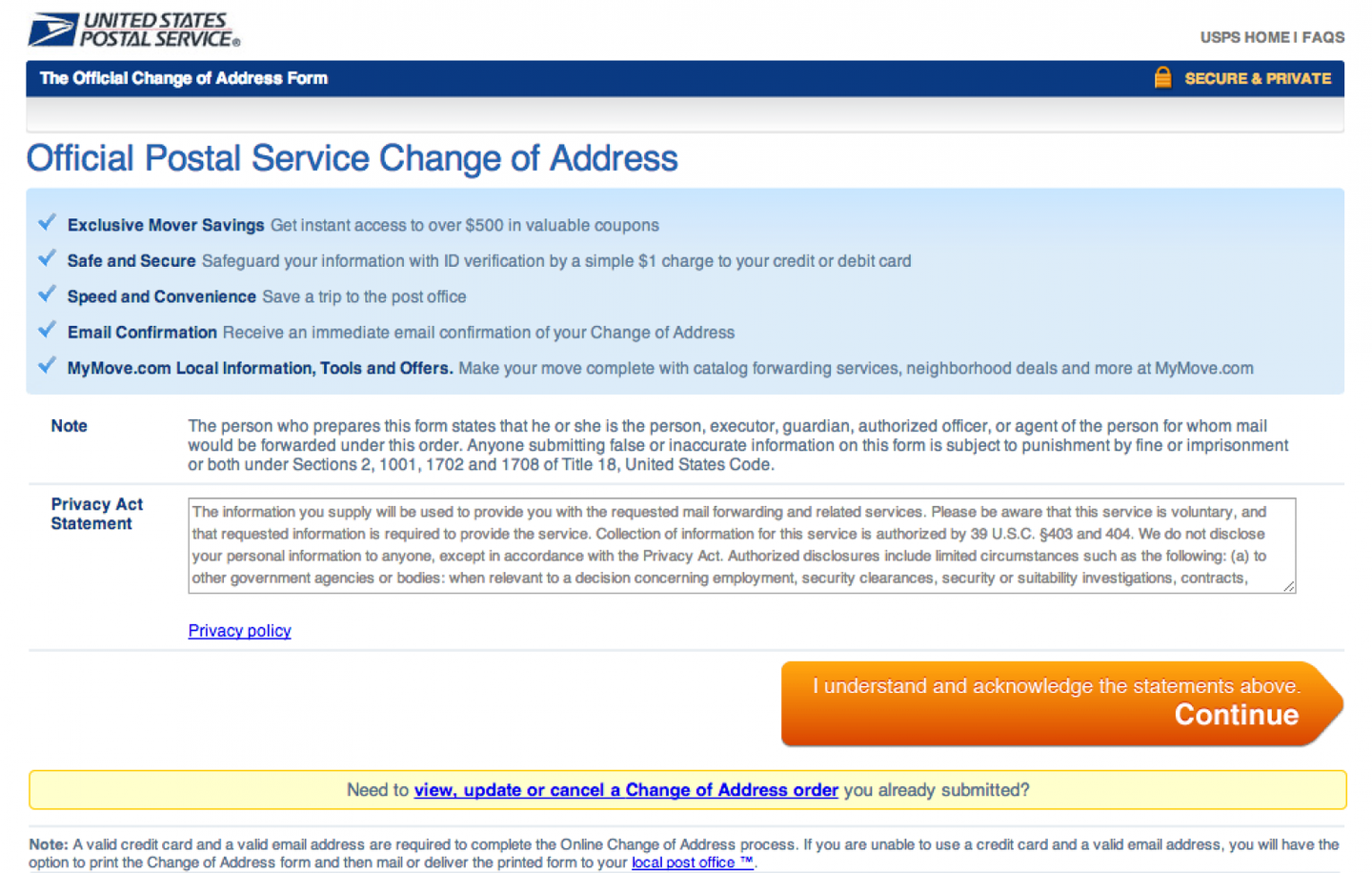 How to officially change your address howchoo – Official Change of Address Form