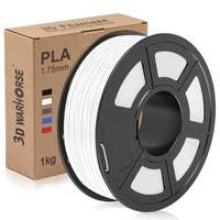 3D Warhorse white PLA filament