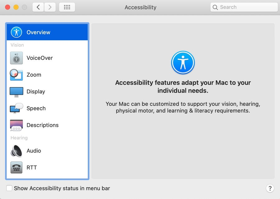 Accessibility Mac