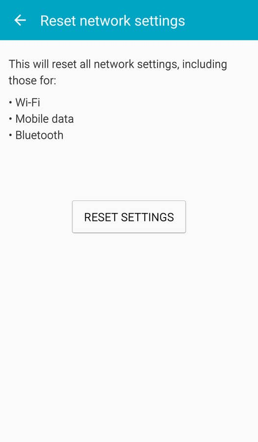 Android Reset Network Settings