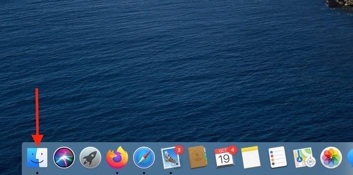 Arrow to Finder in macOS