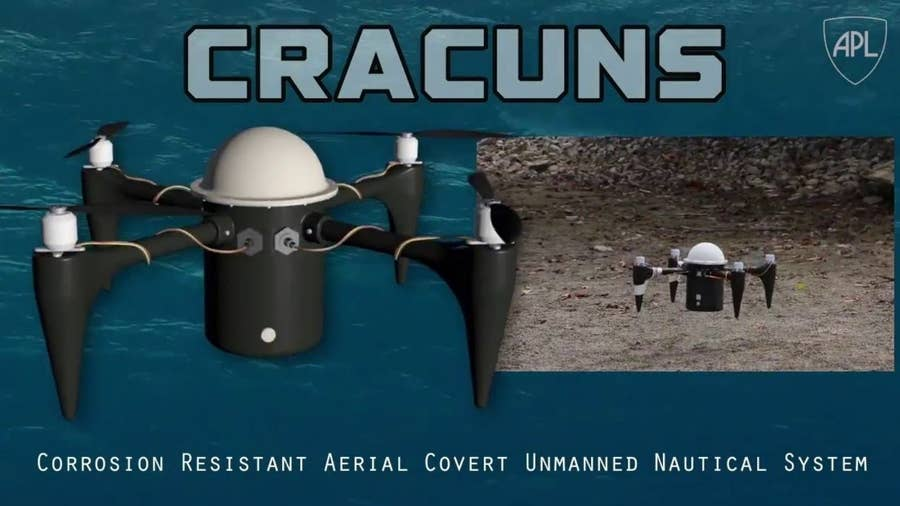 30 CRACUNS underwater spy drone from Johns Hopkins University