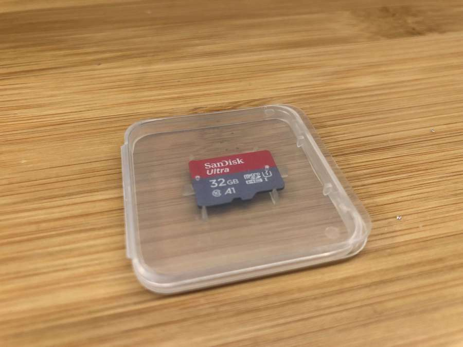 Raspberry Pi starter kit SD card