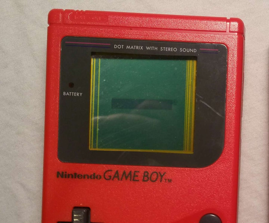Game Boy has vertical lines