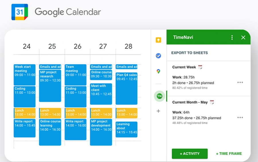 time assistant google workspace addon