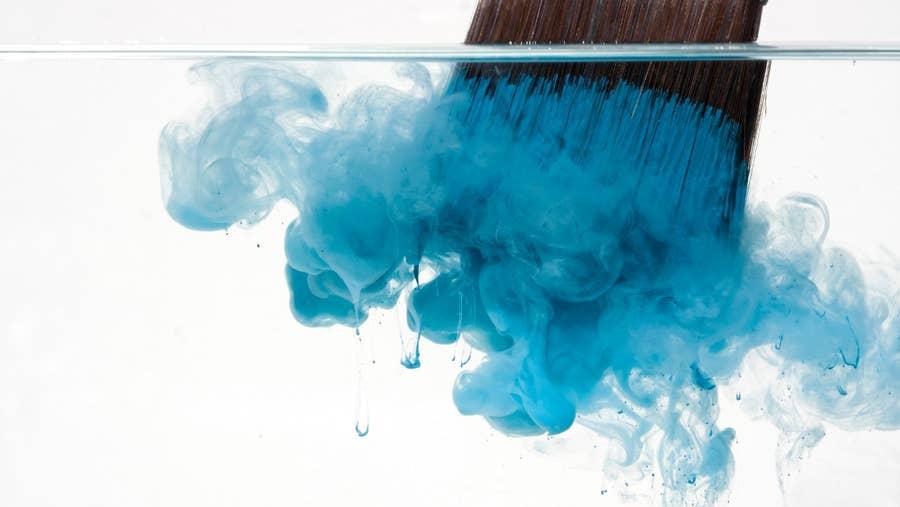 Paintbrush in water.