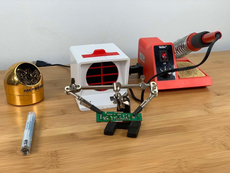 Finished DIY solder fume extractor