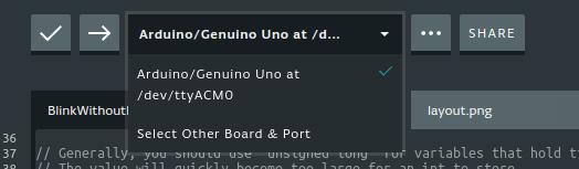 Selecting Arduino device