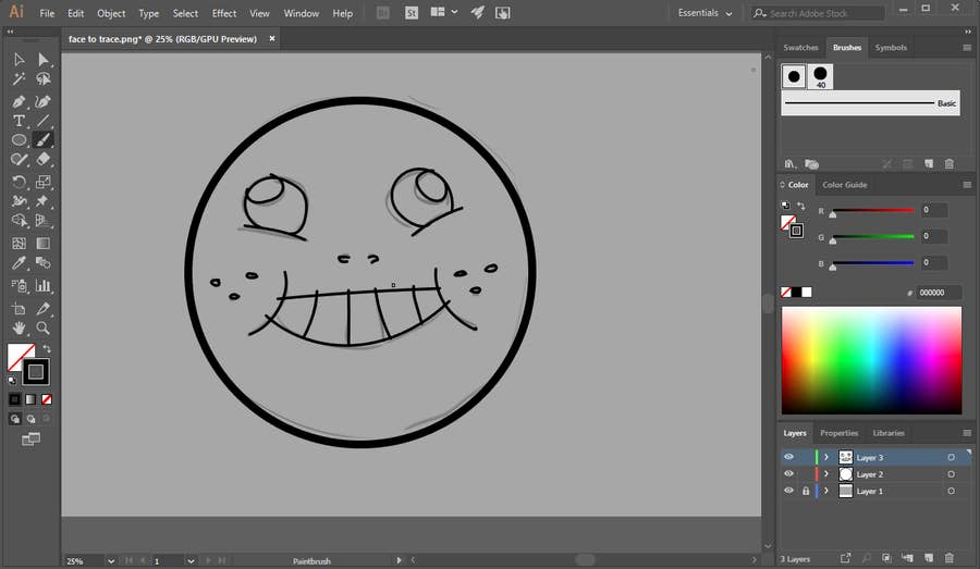 Tablet Trace Illustrator
