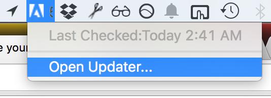 Remove Adobe updater from the menu bar (Mac) - howchoo