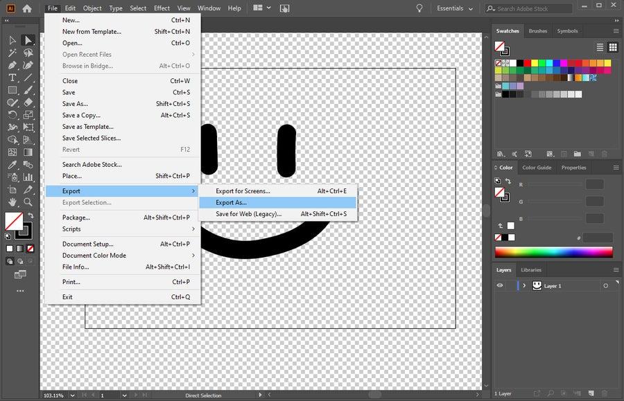 Adobe Illustrator Save File