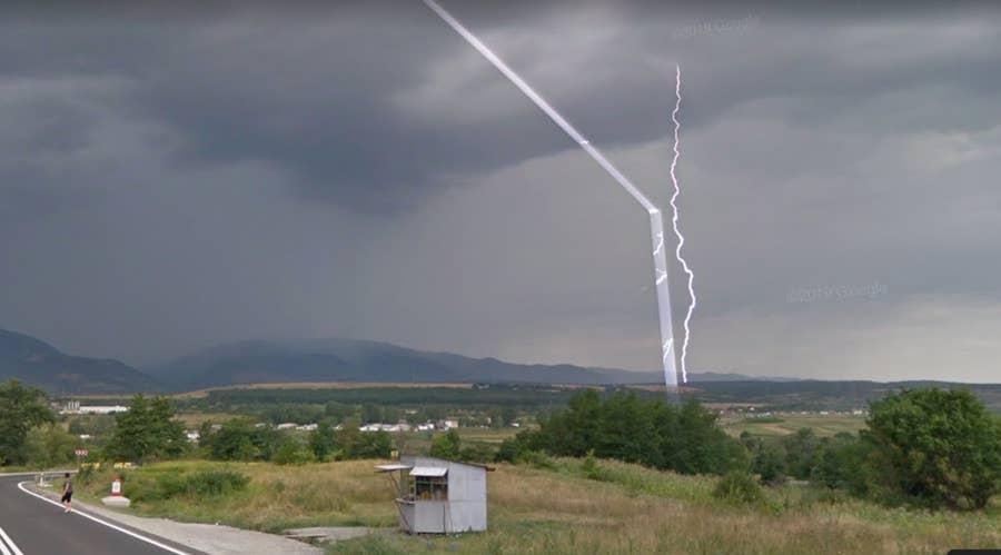 lightning google street view
