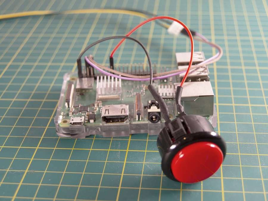 button wired to raspberry pi