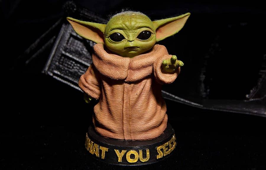 Baby Yoda What You Seek 3D Print