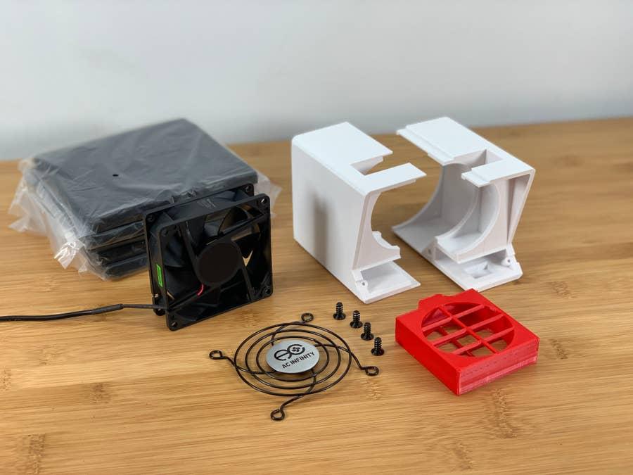 DIY solder fume extractor parts