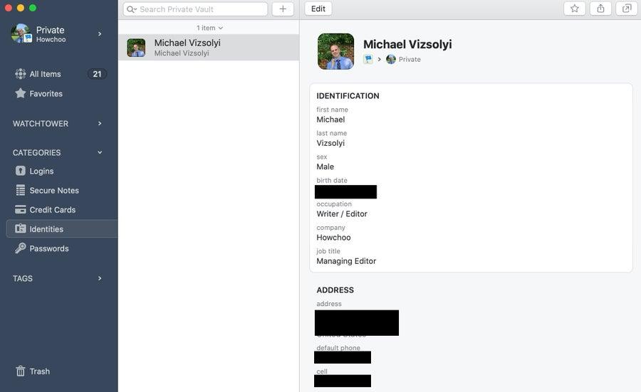 1Password Identity
