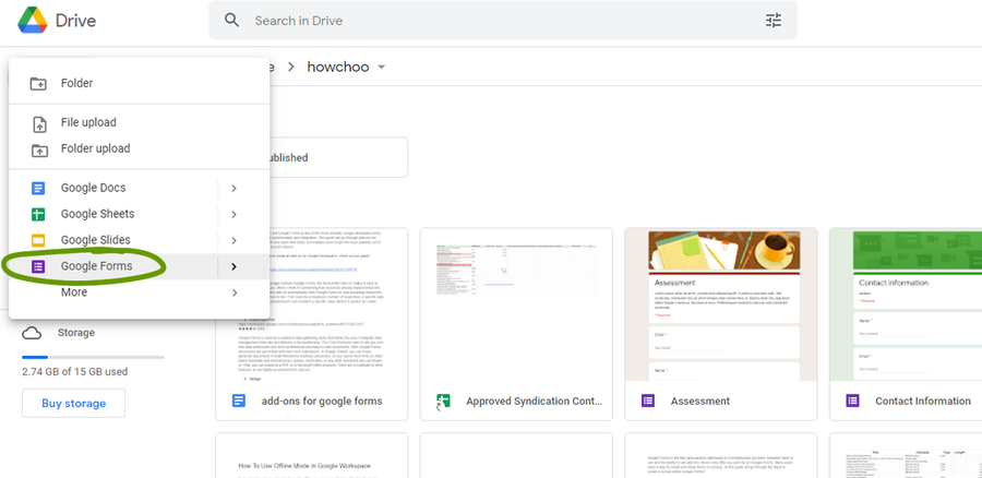 create a survey google forms create a form