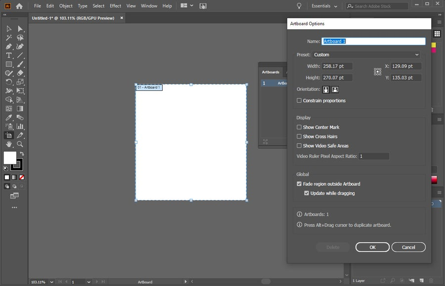 Adobe Illustrator Rotate Artboard