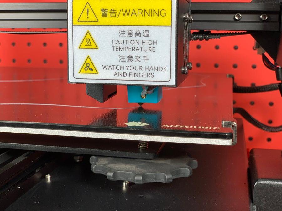 Anycubic Mega X printing on Ultrabase Platform