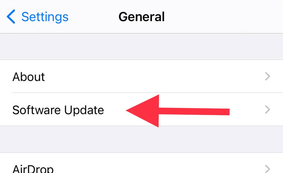 Software Update iPhone