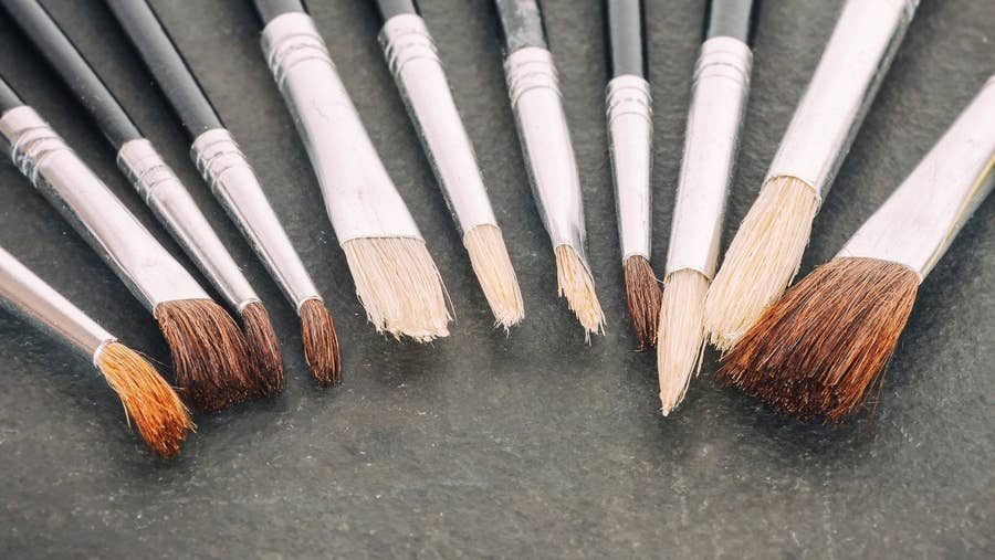 Clean brushes.