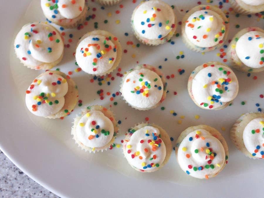 Cupcakes with buttermilk vanilla buttercream frosting