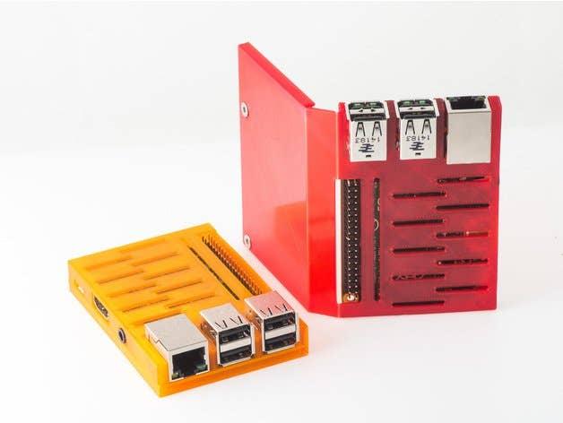 3D Printed folding Raspberry Pi case