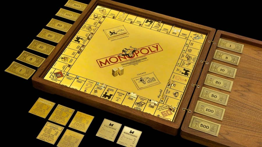 Gold Monopoly Set – $2 Million